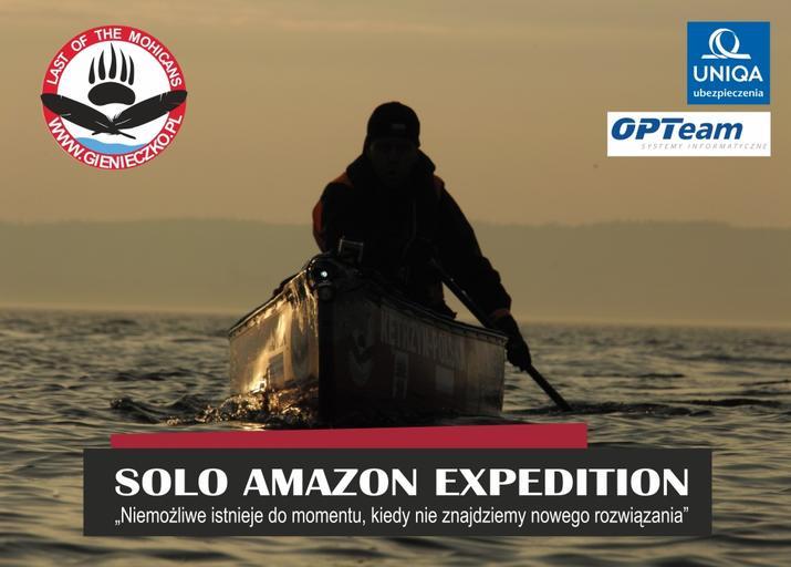 """Marcin Gienieczko i """"Solo Amazon Expedition"""" - spotkanie na Wiatr i Woda"""
